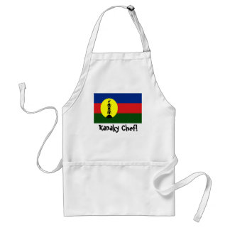New Caledonia Kanaky flag chef apron