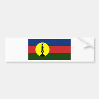 New Caledonia Kanaky Local Flag Bumper Sticker