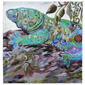 New Caledonia Lizard Art Deco Style Napkin
