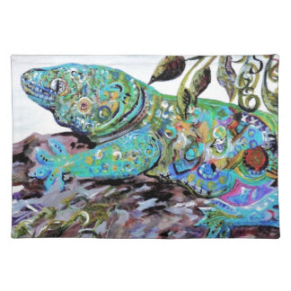 New Caledonia Lizard Art Deco Style Placemat