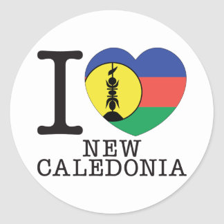 New Caledonia Love v2 Classic Round Sticker