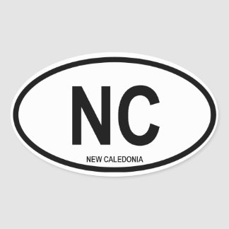 "New Caledonia ""NC"" Oval Sticker"