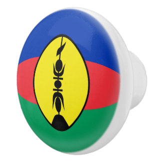 New Caledonia New Caledonian Flag Ceramic Knob