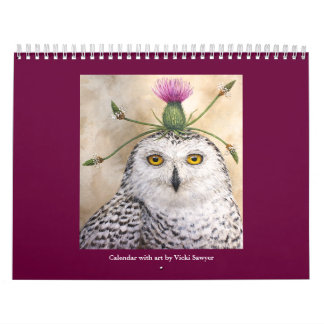 New calendar for 2017 with Vicki Sawyer Art