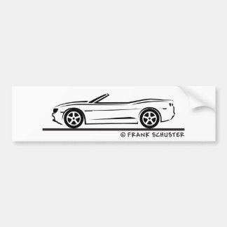 New Camaro Convertible Bumper Sticker