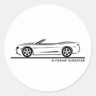 New Camaro Convertible Classic Round Sticker