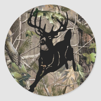 New Camo Buck Sticker