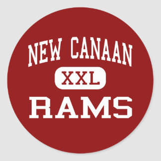New Canaan - Rams - High - New Canaan Connecticut Classic Round Sticker