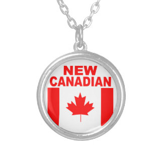 NEW CANADIAN SILVER PLATED NECKLACE