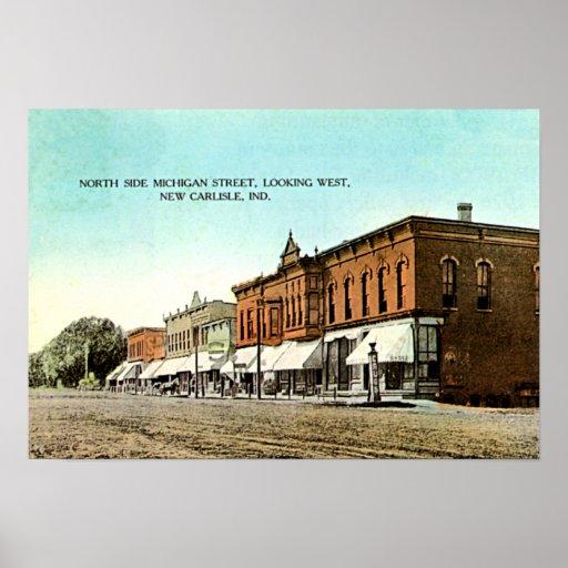 New Carlisle, Indiana Michigan Street Print