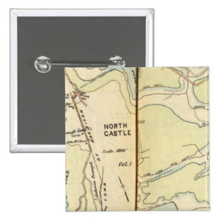 New Castle, New York 3 15 Cm Square Badge