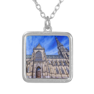 New Cathedral, Linz, Austria Silver Plated Necklace