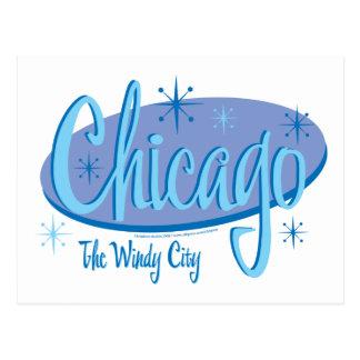 NEW-Chicago-Retro Postcard