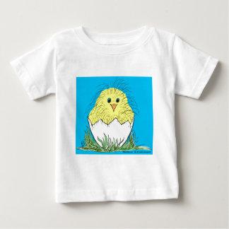 New chick blue background tshirt