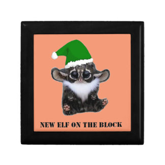 New Christmas Elf on The Block Small Square Gift Box