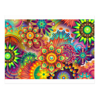 New Colorful Abstract BackGround Postcard