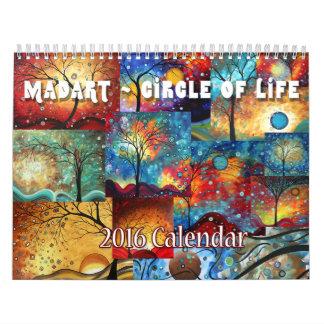 NEW Colorful MADART 2016 Circle of Life Calendar