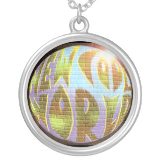 """New Cool World"" LOGO Necklace"