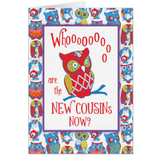New Cousins Congratulations, Cute Owls Card