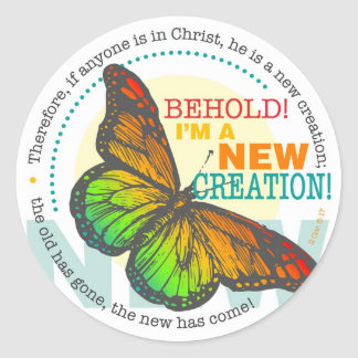 New Creation Butterfly Sticker