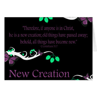 New Creation Card