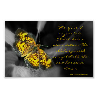 New Creation- Yellow Butterfly Poster