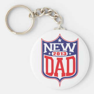 New Dad 2013 Basic Round Button Key Ring
