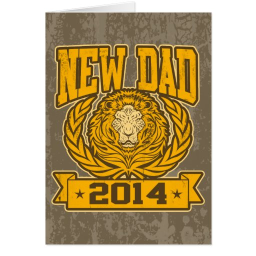 New Dad 2014 Greeting Card
