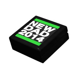 New Dad 2014 Green Small Square Gift Box