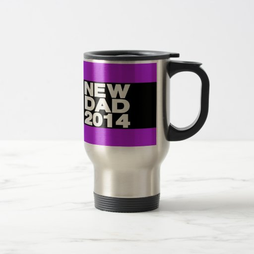 New Dad 2014 Lg Purple Coffee Mugs