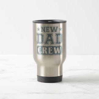 New Dad Crew Denim Texture Travel Mug