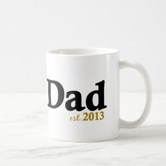 New Dad Est 2013 Coffee Mug