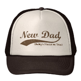 New Dad Hat, Personalized s Name or Year Cap