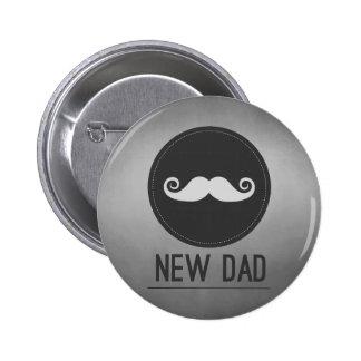 New Dad Mustache Hipster 6 Cm Round Badge