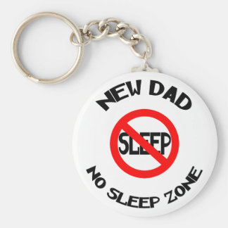 New Dad No Sleep Gift Basic Round Button Key Ring