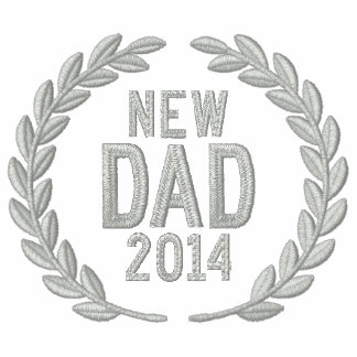 New Dad Personalize YEAR Laurels Embroidery Embroidered Shirts