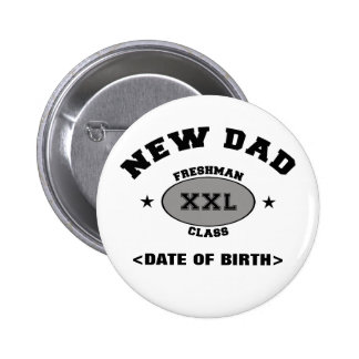 New Dad Personalized Gift XXL 6 Cm Round Badge