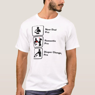 New Dad, Romantic, Diaper Changing T-Shirt