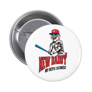 New Daddy 2011 My Boys Scored 6 Cm Round Badge