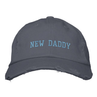 New Daddy Distressed Chino Twill Cap Embroidered Baseball Caps