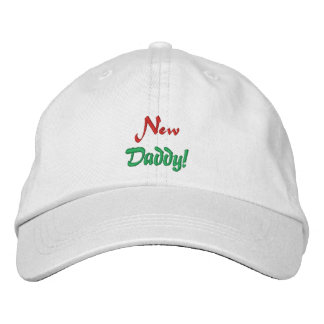 New, Daddy!-Embroidered Hay Embroidered Cap