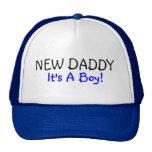 New Daddy Its A Boy Blue Trucker Hats