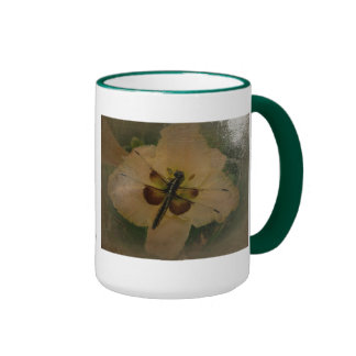 New Day Gardens Mug- Dragonfly Antiqued Style
