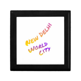 New Dehli world city, colorful text art Gift Box