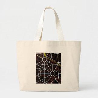 New Delhi Future Map Tote Bags