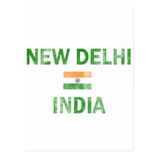 New Delhi India Designs Postcard