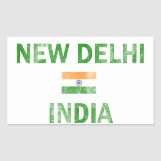 New Delhi India Designs Rectangular Sticker