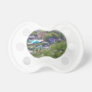 New Delhi India Traffic views from Metro Railways Baby Pacifier