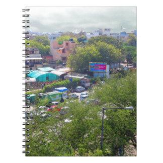 New Delhi India Traffic views from Metro Railways Notebooks