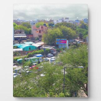 New Delhi India Traffic views from Metro Railways Photo Plaques